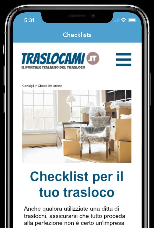 Traslocami checklist